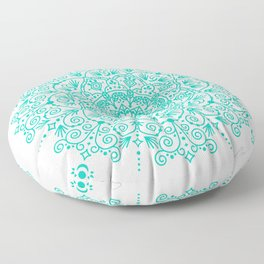 Moroccan Mandala – Turquoise Palette Floor Pillow