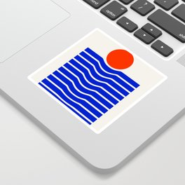 Going down-modern abstract Sticker
