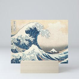 The Great Wave off Kanagawa by Katsushika Hokusai from the series Thirty-six Views of Mount Fuji Mini Art Print