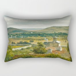 Théodore Rousseau Panoramic View of the Ile-de-France Rectangular Pillow