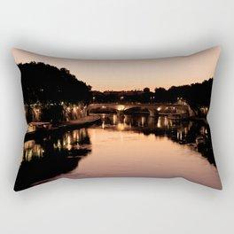 Tiber river at sunset Rectangular Pillow