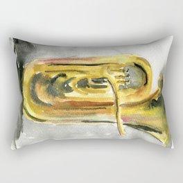 Solo tuba Rectangular Pillow