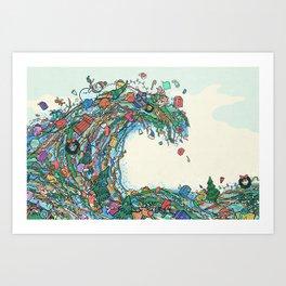 Christmas Tidal Wave Art Print