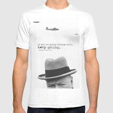 Churchill Mens Fitted Tee MEDIUM White