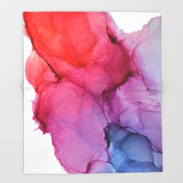 Bleeding Rainbow Blend - Alcohol Ink Painting Throw Blanket