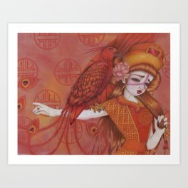 Huo: Vermillion Bird Art Print