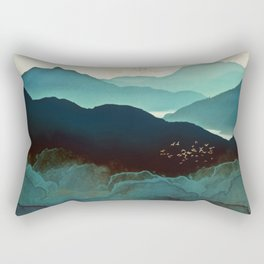 Indigo Mountains Rectangular Pillow