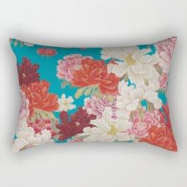 Turqoise Garden Rectangular Pillow
