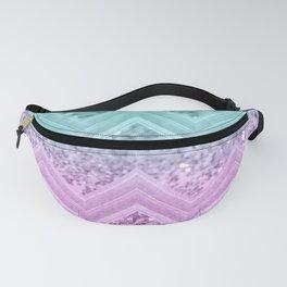 Mermaid Glitter Chevron #1 #shiny #decor #art #society6 Fanny Pack