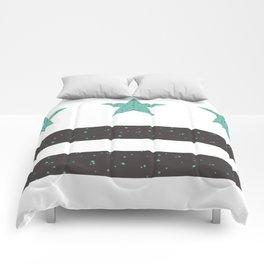 Teal & Grey Washington, DC Flag Comforters