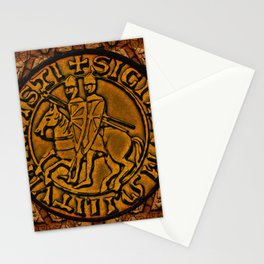 Medieval Seal of the Knights Templar Stationery Cards