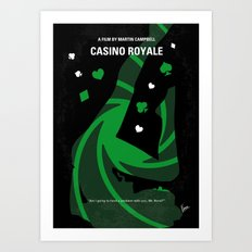 No277-007-2 My Casino Royale minimal movie poster Art Print
