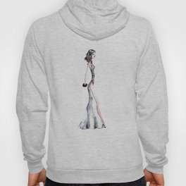 Lady - Watercolors and Ink Hoody