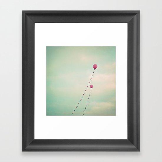 Whimsical Balloons Framed Art Print