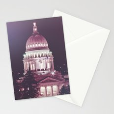 Idaho Capital Building at Night Stationery Cards