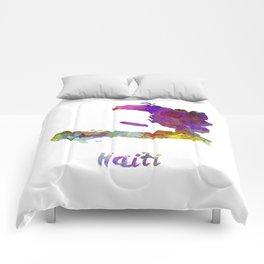 Haiti in watercolor Comforters