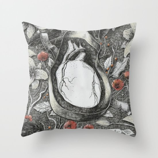 Heart-Shaped Box Throw Pillow