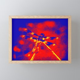 Electric Dragonfly Framed Mini Art Print