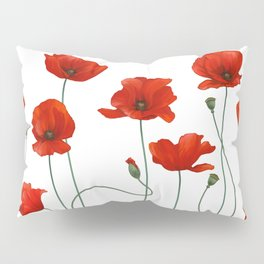 Poppy Stems Pillow Sham