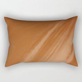 Blurred Sepia Wave Trajectory Rectangular Pillow