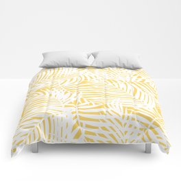 Bright Gold Tropical Island Comforters