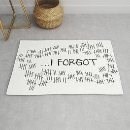 I Forgot (#4) Rug