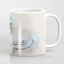 Native American totem pole soft watercolor Coffee Mug