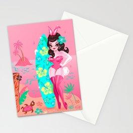 Hawaii Burlesque Festival Beach Bunny Stationery Cards