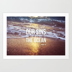 Micah 7:19 Art Print