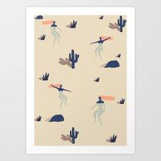 Dezert swim Art Print