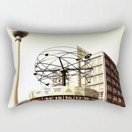 World time clock television tower Berlin Rectangular Pillow
