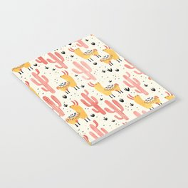 Yellow Llamas Red Cacti Notebook