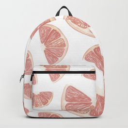 Fruit print. Grapefruits. Bright summer pattern. Watercolor grapefruit slices on a white background Backpack