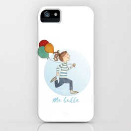 Ma Bulle Bleu iPhone Case