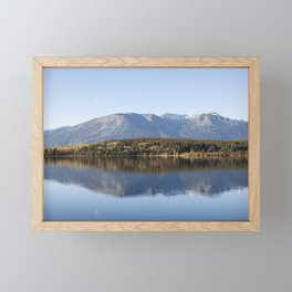 Lake Pyramid Canada Framed Mini Art Print
