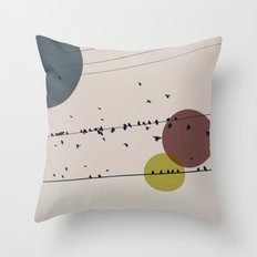 Chaos On The Wires Throw Pillow