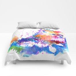 Pop Art Pomeranian Comforters
