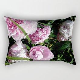 Peony Roses (3) Rectangular Pillow
