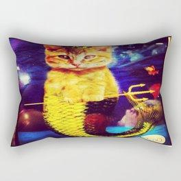 mermaid kitty Rectangular Pillow