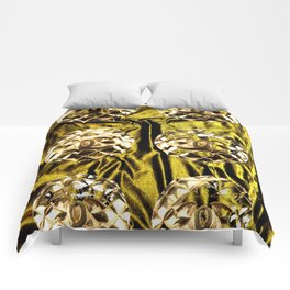 gold vintage earrings coco Comforters