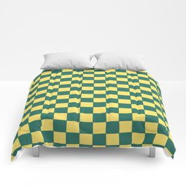 Checkers - Green and Yellow Comforters