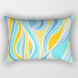 Beach Day Abstract Rectangular Pillow