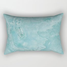 Turquoise Sea Marble Rectangular Pillow