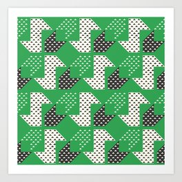 Clover&Nessie Glass/Charcoal Art Print