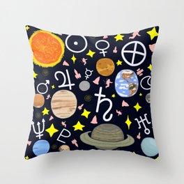 Solar System 2 Throw Pillow