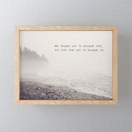 we travel Framed Mini Art Print