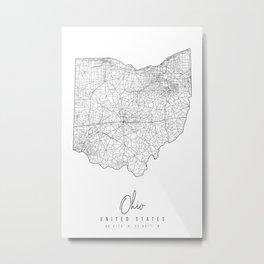 Ohio Minimal Street Map Metal Print