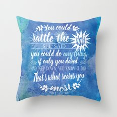 Throne of Glass by Sarah J. Maas Book Quote - Rattle The Stars Throw Pillow