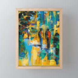 Walk in the city Framed Mini Art Print