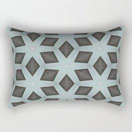 Mint Green, Cream & Chocolate Brown No. 2 Rectangular Pillow